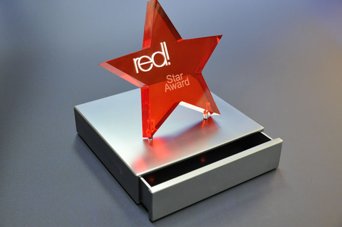 Red! Star Award aus Acrylglas