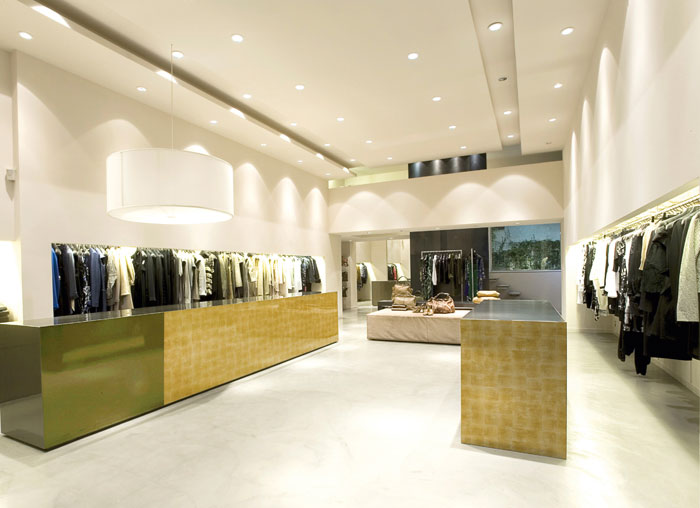 SG LUXURY Gold Plexiglas Store Design